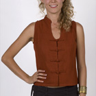 kashi : 100% Hemp chinese button blouse with cleavage
