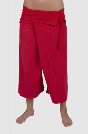 kashi : brushed cotton fisherman's pants