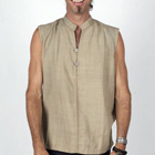 kashi : handwoven, natural dyed, handstitched sleeveless top