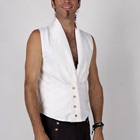 men's fitted pleated lapel vest