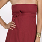 strapless dress with sash
